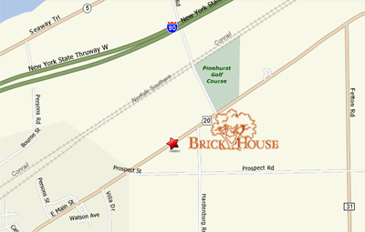Map of Brickhouse Bed & Breakfast in Westfiled, NY